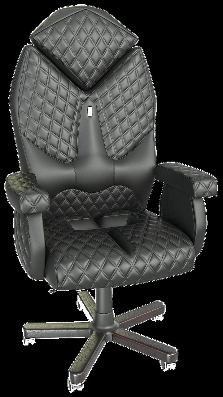 Кресло Diamond экокожа черная (ТМ Kulik System)