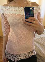 Модная гипюровая блуза