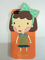 Силиконовый чехол-накладка Hello Geeks from the forest Lucy Девочка for iPhone 5/5S