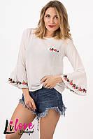 Женская блузка с вышивкой №19-358
