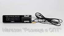 Многофункциональные автомобильные часы с термометром VST-7065, фото 2
