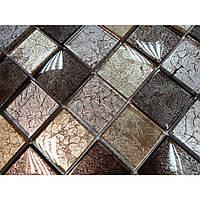 Мозаика стеклянная на подложке  Mix Grey