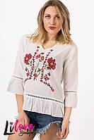 Женская блузка с вышивкой №19-355