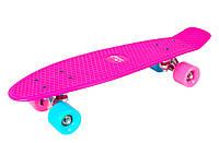Скейтборд (пенні борд) Hudora Retro Wonders Pink (Німеччина), фото 1