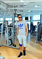 Спортивный костюм мужской Адидас, с футболкой и шортами