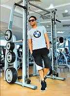 Спортивный костюм  BMW, с футболкой и шортами