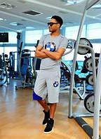 Костюм летний мужской  BMW, с футболкой и шортами