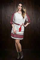 Льняное женское вышитое платье 50431