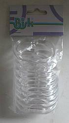 Кільця для шторки у ванну BISK прозорі 12 штук