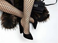 Туфли женские замшевые на широком каблуке