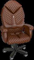 Кресло Diamond экокожа коричневая (ТМ Kulik System)