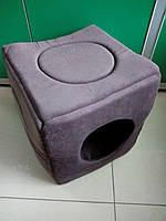 """Спальное место, домик для собак и кошек """"Куб"""" 37х37х37 см"""