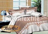 Семейный комплект постельного белья (18010) Голд хлопок