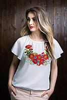 Женская вышитая футболка из шифона 11246