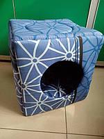 """Спальное место, домик для собак и кошек """"Кубик"""" 37х37х37 см"""