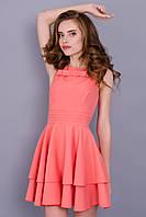 Моник. Стильное платье. Персик.