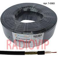 Кабель RG-58C/U CommSpace (19x0,18Сu/120х0,12TCu), диам-5мм,чёрн.,100м