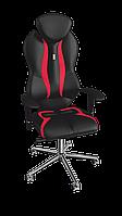 Кресло Grand (Гранд) экокожа черная-красная (ТМ Kulik System)