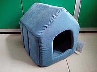 "Спальное место, домик для собак и кошек ""Будка 1"" Люкс 34х32х31 см"