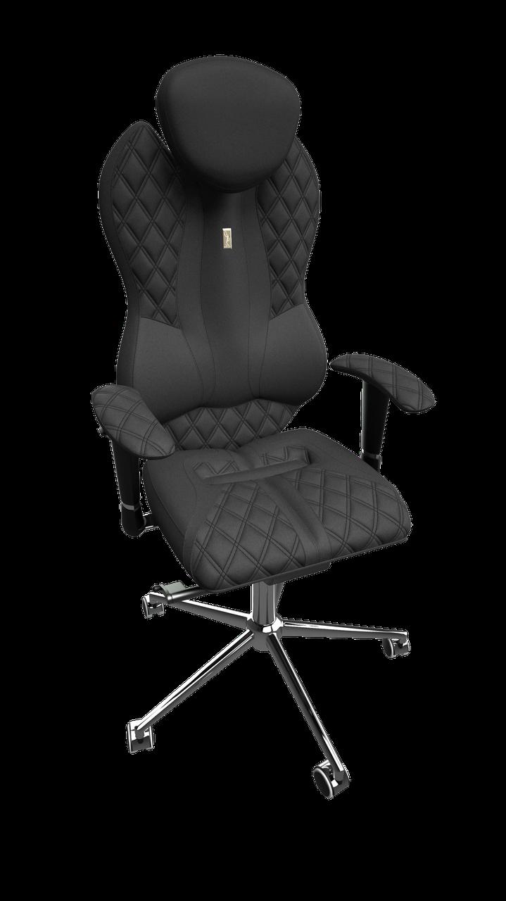 "Кресло Grand (Гранд) ткань Азур черная, шов ""Design"" (ТМ Kulik System)"