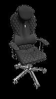 "Кресло Grand (Гранд) ткань Азур черная,шов ""Design"" (ТМ Kulik System)"