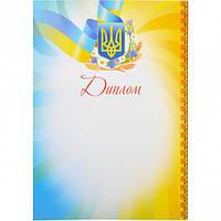 Диплом (желто-голубой с васильками)