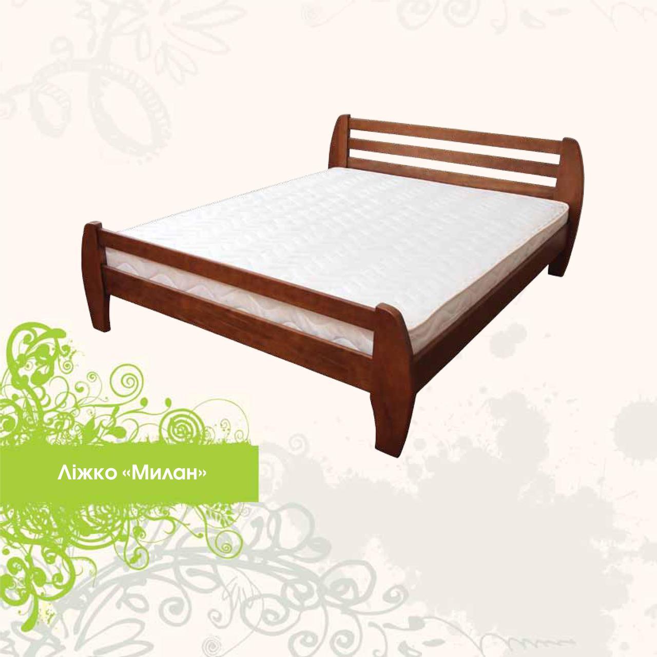 Дерев'яне ліжко Мілан 180х200 сосна Mebigrand