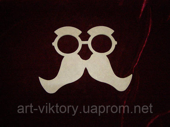 Очки с усами (27 х 19 см), декор, фото 2