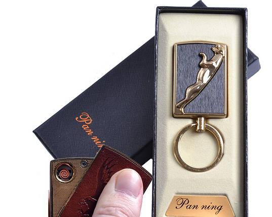 """Спиральная USB зажигалка-брелок """"Пантера"""" №4813-2, спираль накаливания, подарочная упаковка, фото 2"""