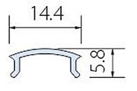 Матовая линза (светорассеиватель) к алюминиевому профилю для светодиодной ленты (LED)
