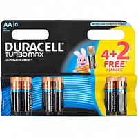 Батарейка Duracell Turbo LR-06 АА по 6 штук