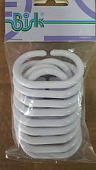 Кільця для шторки у ванну BISK білі 12 штук