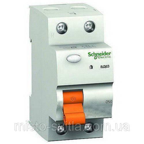 УЗО 63A 2п 300мA Дифференциальный выключатель нагрузки ВД63 Schneider Electric Шнайдер Домовой пзв