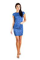 Платье-футляр из стрейч-котона П180