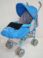 Прогулочная детская коляска-трость Sigma  BYW-308. Синяя.
