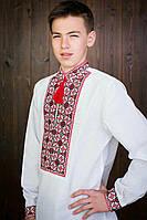 Стильная мужская вышиванка с длинным рукавом 20423