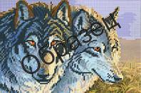 """Набор для частичной вышивки бисером """"Волчья семья"""""""