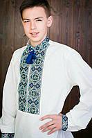 Льняная мужская вышиванка 20425