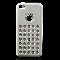 Силиконовая накладка с вырезом iPhone 5C white