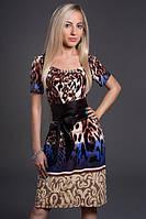 Платье женское в леопардовый принт