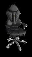 """Кресло Royal (Роял) экокожа черная,шов """"Design"""" (ТМ Kulik System)"""