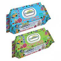 """Влажные салфетки для детей """"Florika"""" 70 штук с клапаном"""