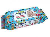 """Влажные салфетки для детей """"Florika"""" 70 штук"""