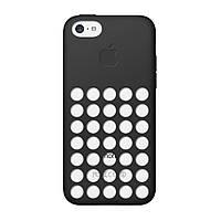 Силиконовая накладка с яблоком iPhone 5C black