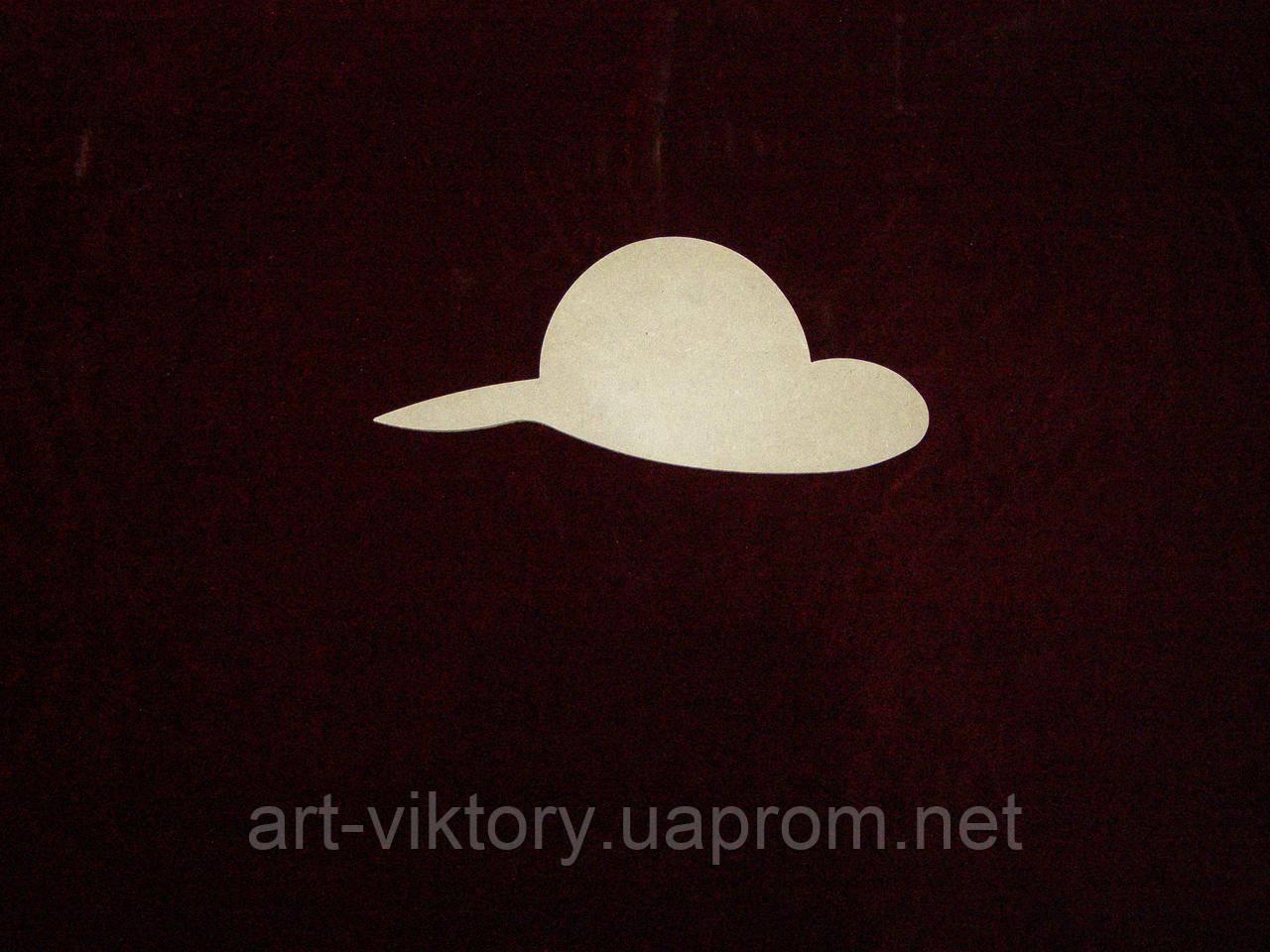 Шляпа женская (27 х 12 см), декор