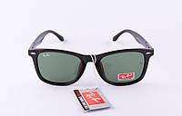 Солнцезащитные очки Рей Бен Wayfarer черные глянец ( Рей Бен Вейфарер),магазин очков солнцезащитных
