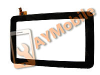 "Сенсор (тачскрин) 7"" Prestigio PMP3670B, PMP3570C, topsun C0116-A1 12pin 186x111mm с рамкой black"