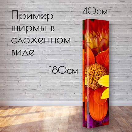 """Ширма декоративная """"Черно-серый орнамент"""", фото 2"""