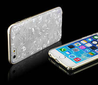 WOW case Marble White/Gold Frame for iPhone 6