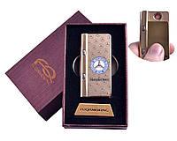 USB зажигалка в подарочной упаковке с фонариком + фонарик с ультрафиолетом Mersedes-Benz 4828-2